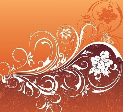 flower pattern background classical curved style