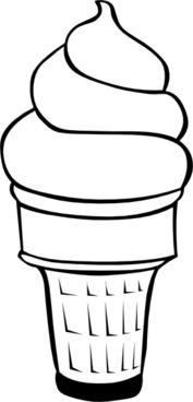 Soft Ice Cream Cones Ff Menu clip art