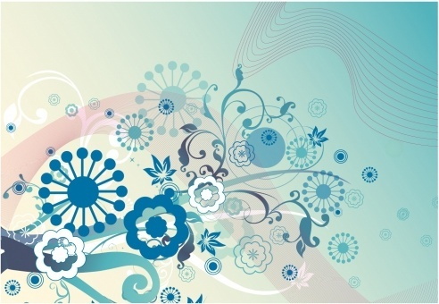 Soft wave and flower background