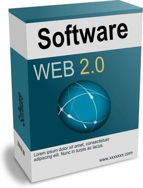 Software Carton Box Web 2.0 (remix)