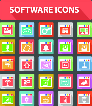software icons vector graphic