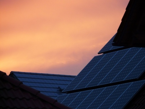 solar cells home roof