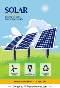 solar energy advertisement green field batteries sketch