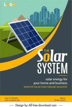 solar energy advertising poster battery building sketch