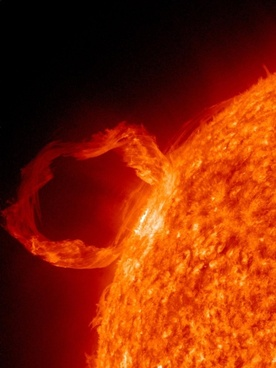 solar flare sunlight eruption