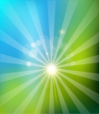 Solar Nature Background Vector Illustration
