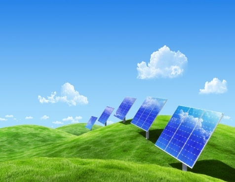 solar panels highdefinition picture series