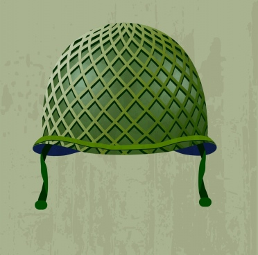 soldier helmet icon shiny green 3d design