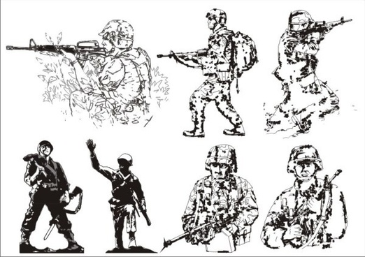 soldiers elements vector
