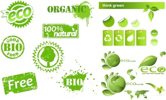 some eco theme icon vector