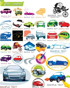 some graphics on the car icon vector