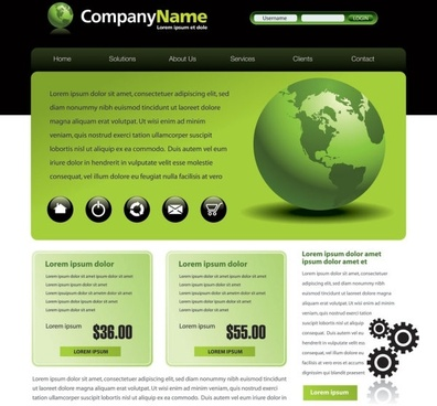 sophisticated and practical web site template 01 vector