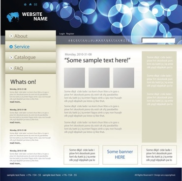 sophisticated and practical web site template 02 vector