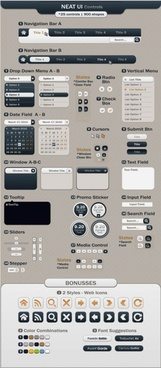 sophisticated web page design elements vector