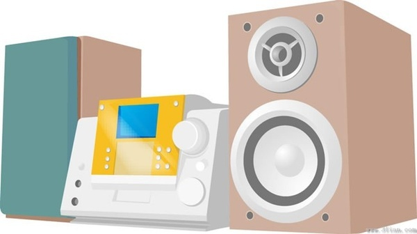 sound electrical equipment vector