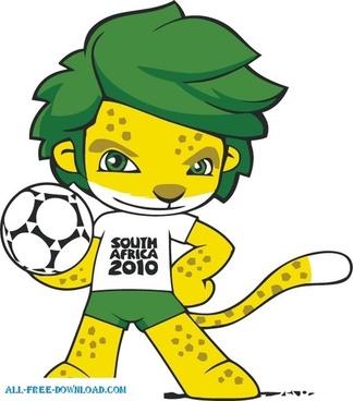 South Africa 2010 World Cup Mascot ZAKUMI Vector adobe ilustrator design