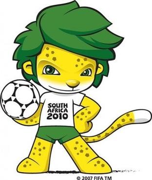 South Africa 2010 World Cup Mascot ZAKUMI Vector, zakumi world cup mascot photoshop eps design