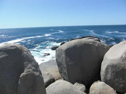 south africa rock sea
