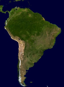 south america continent land