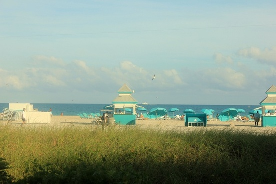 south beach from the walk way in miami florida