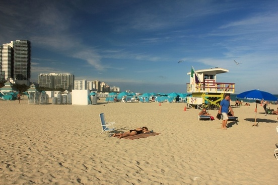 south beach looking one way in miami florida