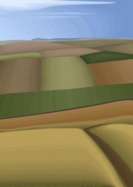 south korea vector landscape vector