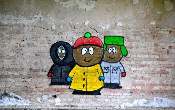 south park graffiti