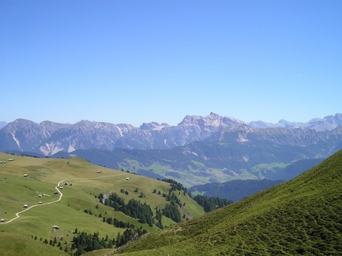 south tyrol dolomites view