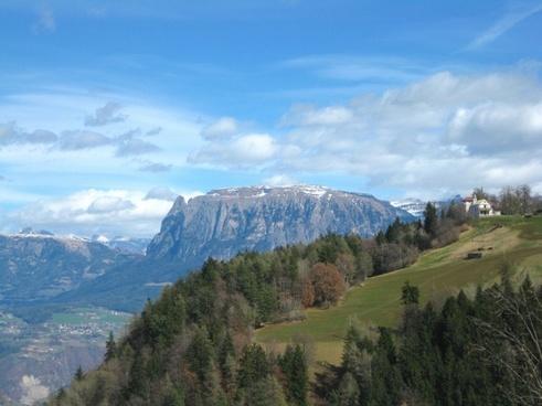 south tyrol landscape sky