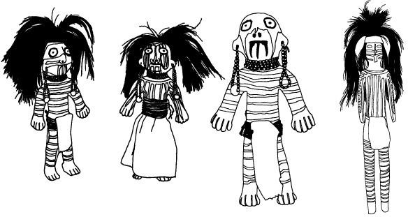 Southwest Native American Figurine Dolls - Design Vectors