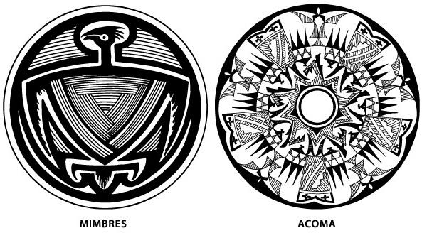 Southwest Native American Pottery Design Vectors