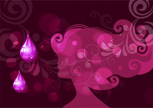 spa advertising background woman silhouette attar violet backdrop