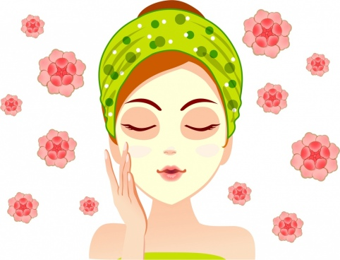 spa advertising banner makeup woman flowers decoration