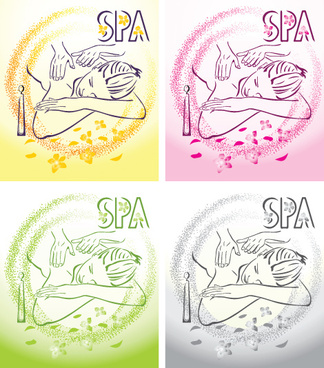 spa beauty salon illustration vector set