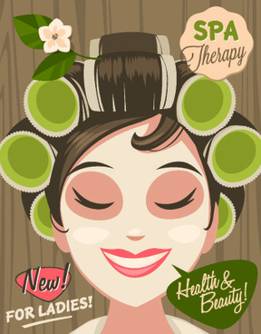 spa therapy and beauty vector