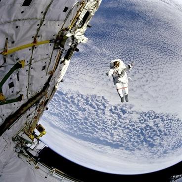 space astronaut sky