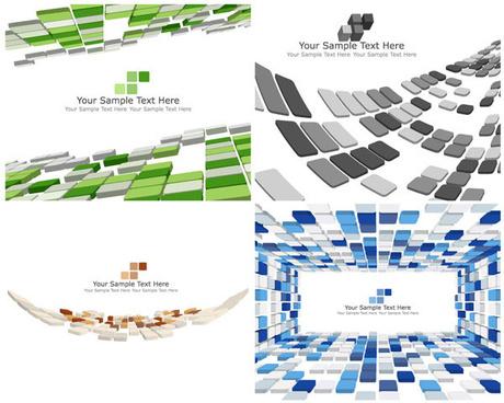 space block background design elements