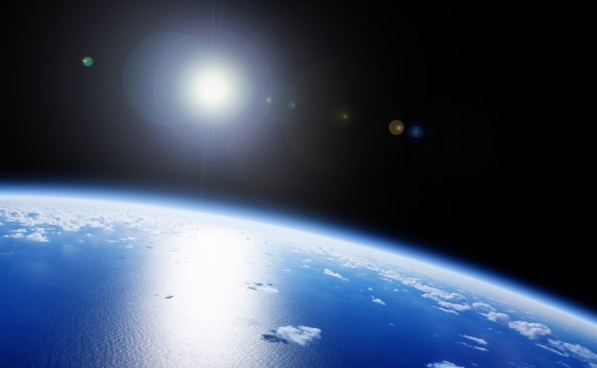 space on the blue planet