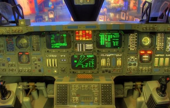 space shuttle cockpit in houston texas
