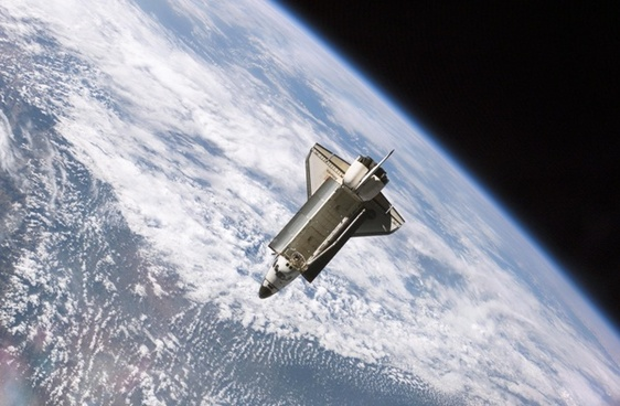space shuttle earth space travel
