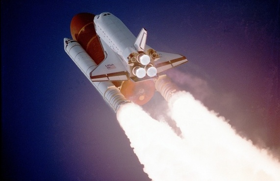 space shuttle lift-off liftoff
