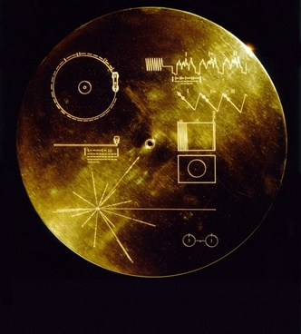 space travel voyager golden record data sheets