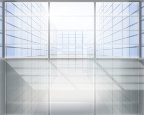 spacious and bright windows vector
