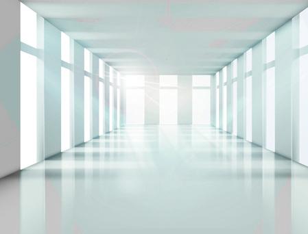 spacious bright of empty room vector