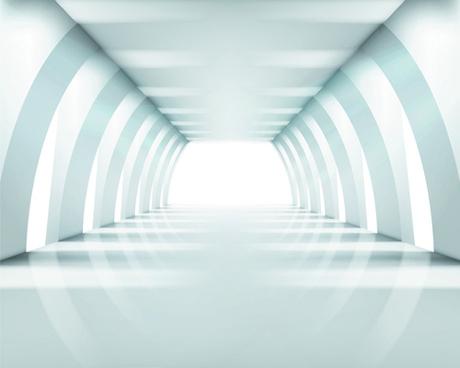 spacious empty white room design vector