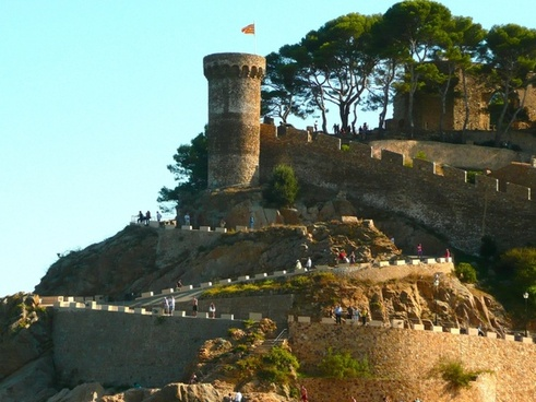 spain castle tossa de mar