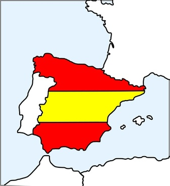 Spain (map and flag)