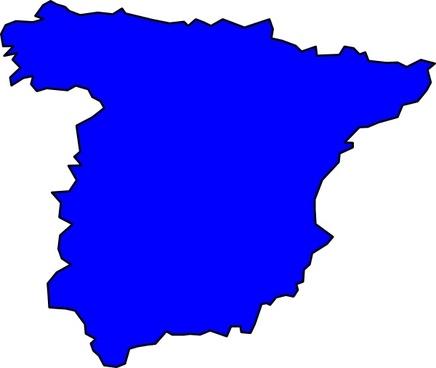 Spain Peninsule clip art