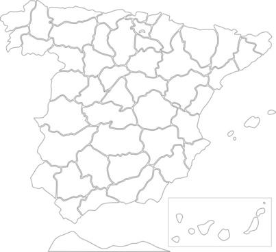 Spain Provinces clip art