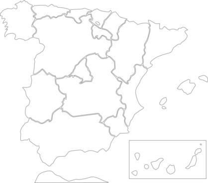 Spain States clip art